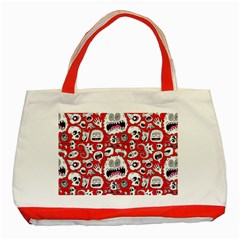Another Monster Pattern Classic Tote Bag (Red)