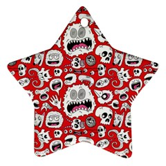 Another Monster Pattern Star Ornament (two Sides)