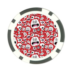 Another Monster Pattern Poker Chip Card Guard