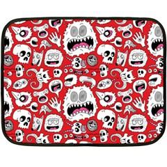 Another Monster Pattern Fleece Blanket (mini)