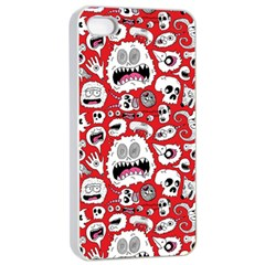 Another Monster Pattern Apple Iphone 4/4s Seamless Case (white)