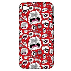 Another Monster Pattern Apple Iphone 4/4s Hardshell Case (pc+silicone)