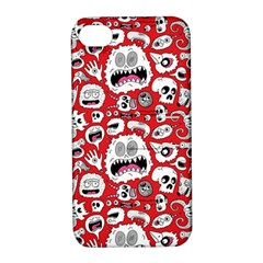 Another Monster Pattern Apple Iphone 4/4s Hardshell Case With Stand