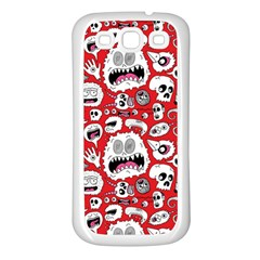 Another Monster Pattern Samsung Galaxy S3 Back Case (White)