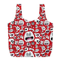 Another Monster Pattern Full Print Recycle Bags (l)
