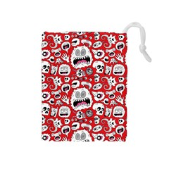 Another Monster Pattern Drawstring Pouches (Medium)