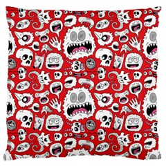 Another Monster Pattern Large Flano Cushion Case (Two Sides)
