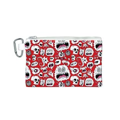Another Monster Pattern Canvas Cosmetic Bag (s)