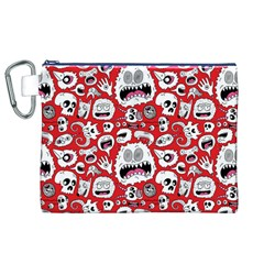 Another Monster Pattern Canvas Cosmetic Bag (XL)