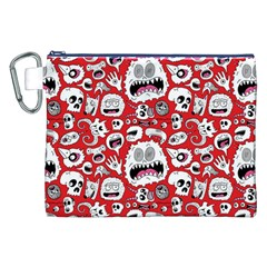 Another Monster Pattern Canvas Cosmetic Bag (xxl)
