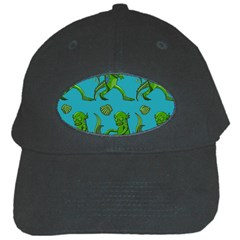 Swamp Monster Pattern Black Cap