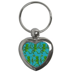 Swamp Monster Pattern Key Chains (Heart)