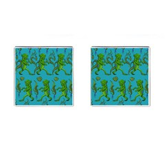 Swamp Monster Pattern Cufflinks (square)
