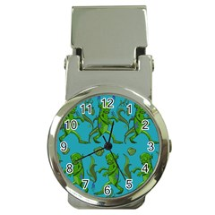 Swamp Monster Pattern Money Clip Watches