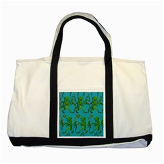 Swamp Monster Pattern Two Tone Tote Bag