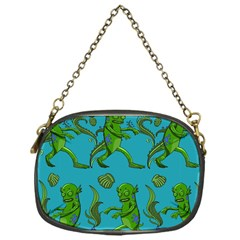 Swamp Monster Pattern Chain Purses (one Side)