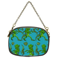 Swamp Monster Pattern Chain Purses (Two Sides)