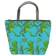 Swamp Monster Pattern Bucket Bags