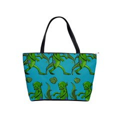 Swamp Monster Pattern Shoulder Handbags