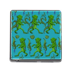 Swamp Monster Pattern Memory Card Reader (Square)