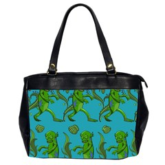 Swamp Monster Pattern Office Handbags (2 Sides)