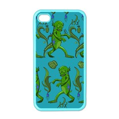 Swamp Monster Pattern Apple iPhone 4 Case (Color)