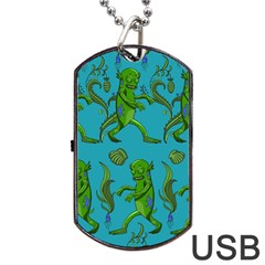Swamp Monster Pattern Dog Tag Usb Flash (two Sides)