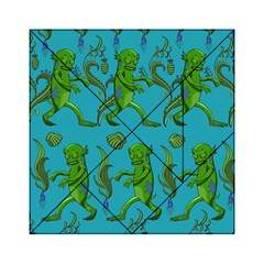 Swamp Monster Pattern Acrylic Tangram Puzzle (6  X 6 )