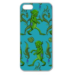Swamp Monster Pattern Apple Seamless iPhone 5 Case (Clear)