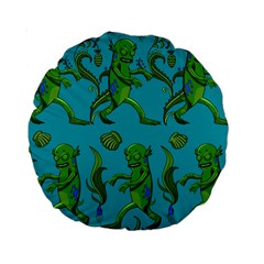 Swamp Monster Pattern Standard 15  Premium Round Cushions