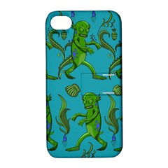 Swamp Monster Pattern Apple Iphone 4/4s Hardshell Case With Stand