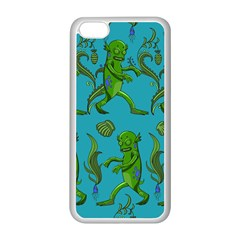 Swamp Monster Pattern Apple iPhone 5C Seamless Case (White)