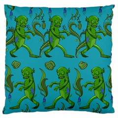 Swamp Monster Pattern Large Flano Cushion Case (Two Sides)