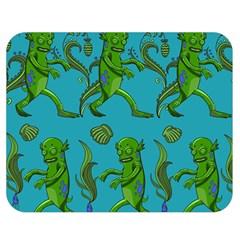 Swamp Monster Pattern Double Sided Flano Blanket (Medium)