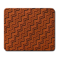 Brown Zig Zag Background Large Mousepads