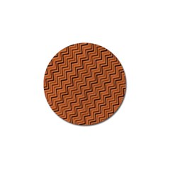 Brown Zig Zag Background Golf Ball Marker