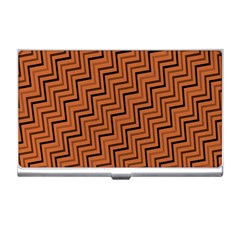 Brown Zig Zag Background Business Card Holders