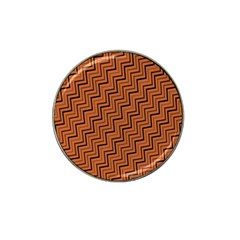Brown Zig Zag Background Hat Clip Ball Marker (4 pack)
