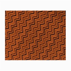Brown Zig Zag Background Small Glasses Cloth