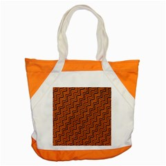Brown Zig Zag Background Accent Tote Bag