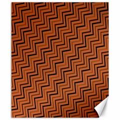 Brown Zig Zag Background Canvas 8  x 10