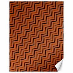 Brown Zig Zag Background Canvas 12  x 16