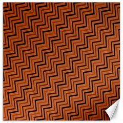 Brown Zig Zag Background Canvas 20  x 20
