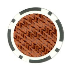 Brown Zig Zag Background Poker Chip Card Guard