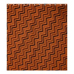 Brown Zig Zag Background Shower Curtain 66  x 72  (Large)
