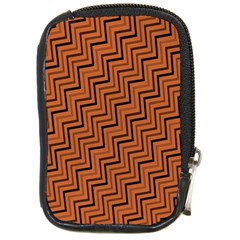 Brown Zig Zag Background Compact Camera Cases