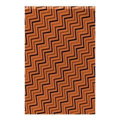 Brown Zig Zag Background Shower Curtain 48  x 72  (Small)