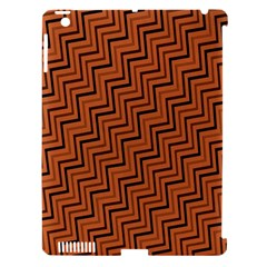 Brown Zig Zag Background Apple iPad 3/4 Hardshell Case (Compatible with Smart Cover)