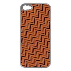 Brown Zig Zag Background Apple Iphone 5 Case (silver)