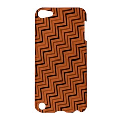 Brown Zig Zag Background Apple Ipod Touch 5 Hardshell Case